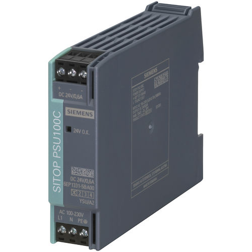AC/DC power supply / for industrial applications / DIN rail / switching