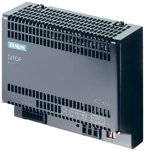 AC/DC power supply / DIN rail / single-phase / with overcurrent protection