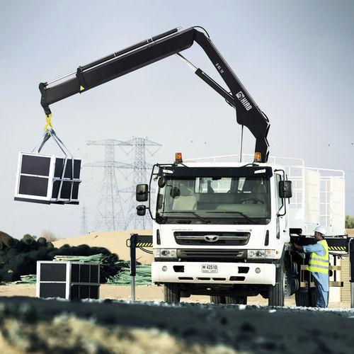 truck-mounted crane / boom / folding / construction