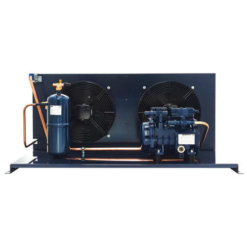 semi-hermetic condensing unit / air-cooled / for indoor use