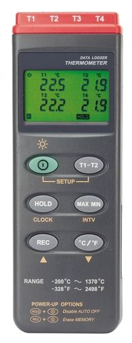 thermocouple thermometer / digital / portable / 4-channel