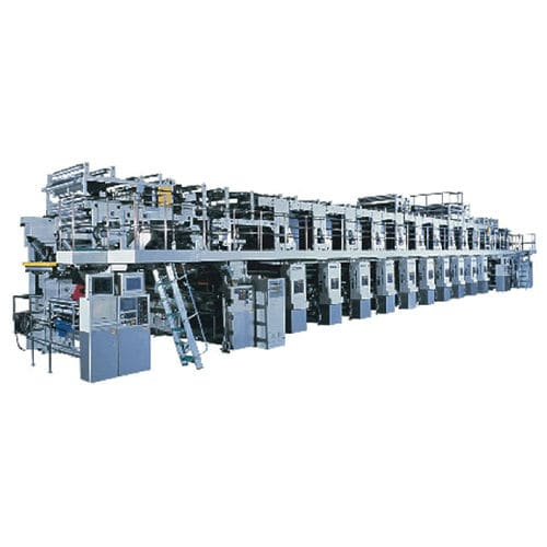 Rotogravure printing press / for labels GSN series Toshiba Machine