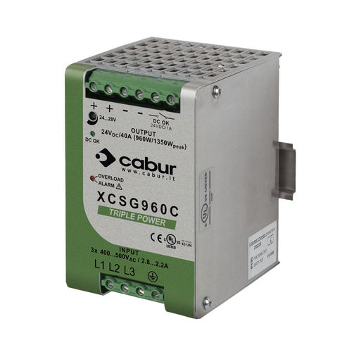 AC/DC power supply / single-output / DIN rail / with short-circuit protection