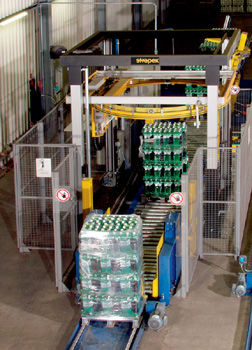 rotary ring stretch wrapping machine / fully automatic / package / stretch film