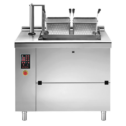 continuous industrial fryer / vegetables / electric