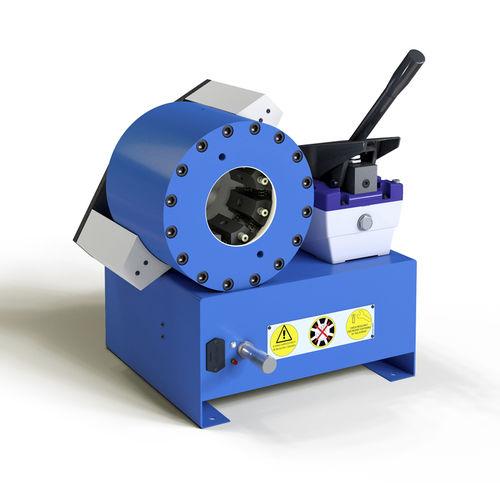 hose crimping machine / hydraulic hose / semi-automatic / hydro-pneumatic