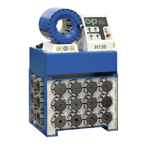 Hose crimping machine / automatic / hydraulic TUBOMATIC H130 EL OP