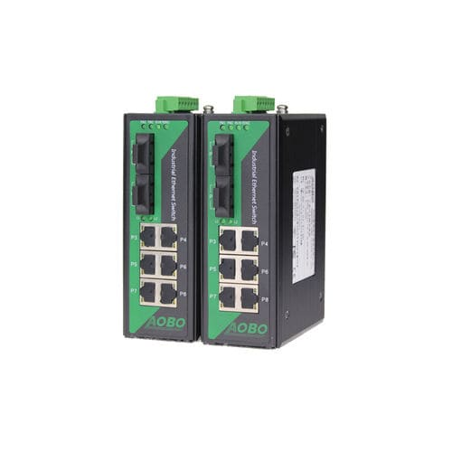managed ethernet switch / 9 ports / DIN rail / outdoor