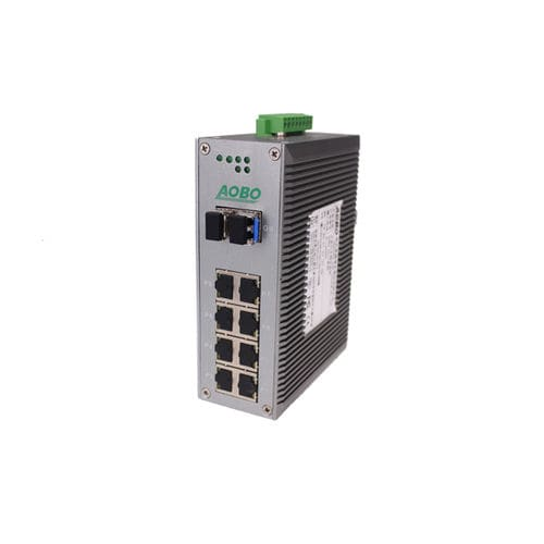Managed ethernet switch / 12 ports / gigabit Ethernet / DIN rail AOBO 6012 series HANGZHOU AOBO TELECOM.,LTD.