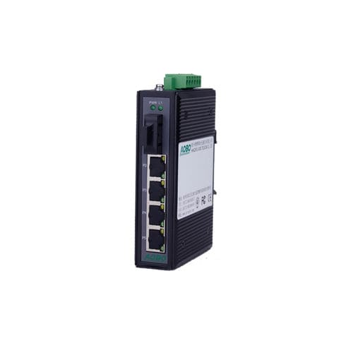 Unmanaged ethernet switch / 5 ports / DIN rail / for railway applications AOBO 3005 series HANGZHOU AOBO TELECOM.,LTD.