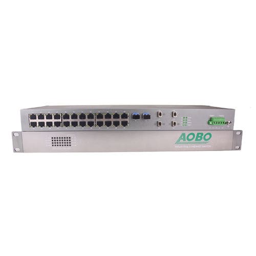 Unmanaged ethernet switch / 28 ports / gigabit Ethernet / industrial AOBO 3128 series HANGZHOU AOBO TELECOM.,LTD.
