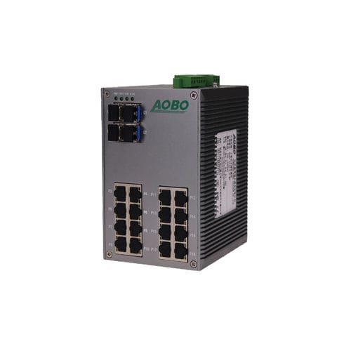 Unmanaged ethernet switch / 28 ports / gigabit Ethernet / DIN rail AOBO 3028 series HANGZHOU AOBO TELECOM.,LTD.