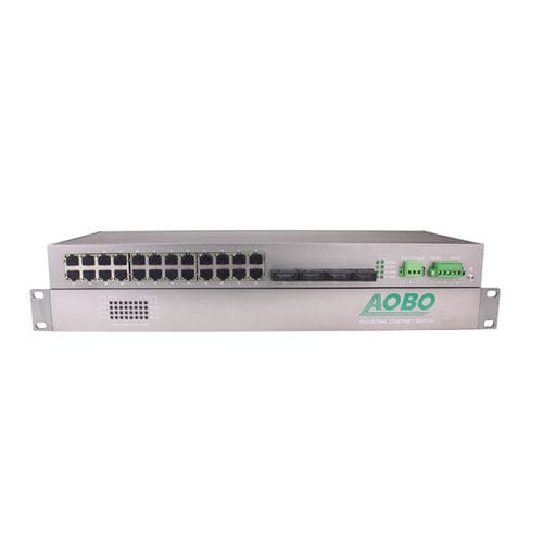 28 ports network switch / gigabit Ethernet / industrial / outdoor AOBO 7228S series HANGZHOU AOBO TELECOM.,LTD.