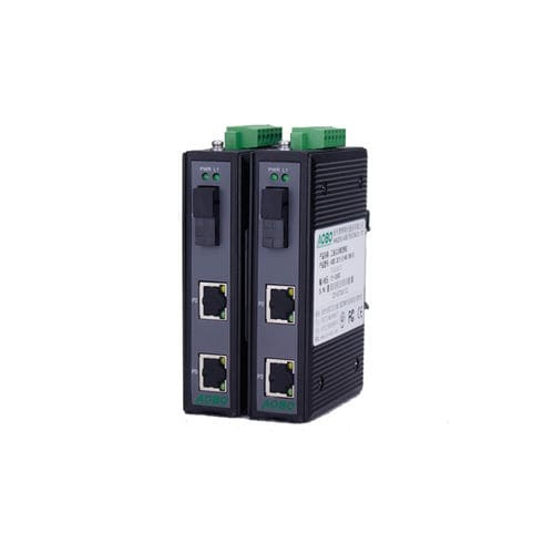 Fiber optic transceiver / gigabit Ethernet / DIN rail-mounted / for telecom networks AOBO G3002/G3003 series HANGZHOU AOBO TELECOM.,LTD.