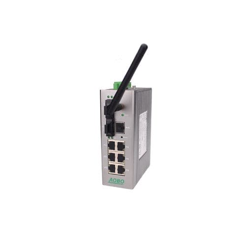 Managed ethernet switch / 9 ports / gigabit Ethernet / DIN rail AOBO W5009 series HANGZHOU AOBO TELECOM.,LTD.