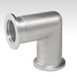 flange fitting / 90° angle / for vacuum / aluminum