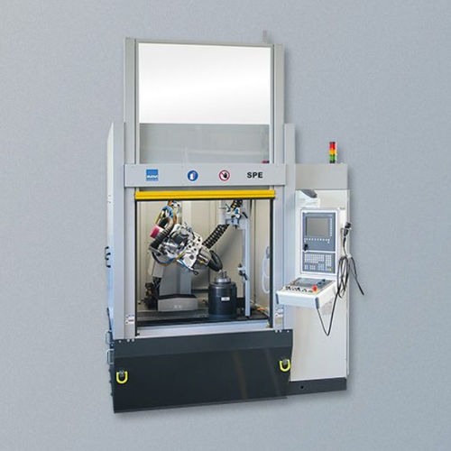 turbine blade grinding machine / surface / tool / PLC-controlled