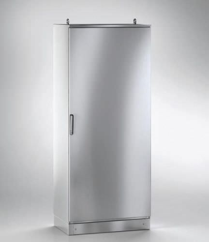 storage cabinet / free-standing / stainless steel / monobloc