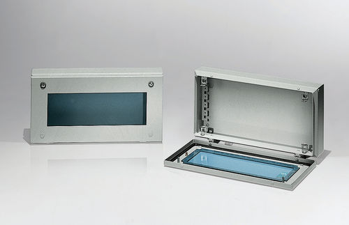 wall-mounted junction box / IP55 / sheet steel / with transparent cover
