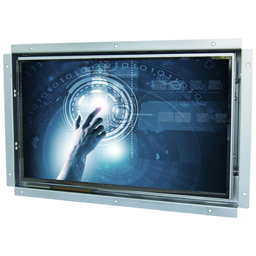capacitive touch screen monitor / LED backlight / full HD / panel-mount