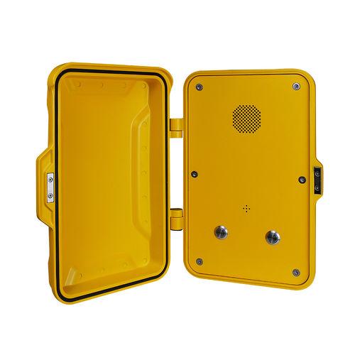 Vandal-proof telephone / weatherproof / analog / with protection door JR102-2B J&R Technology Ltd