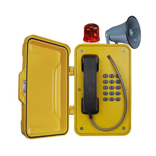 Vandal-proof telephone / weatherproof / IP66 / IP67 JR101-FK-Y-HB J&R Technology Ltd