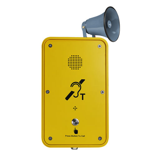 Vandal-proof telephone / weather-resistant / waterproof / rugged INDUSTRIAL OUTDOOR TELEPHONES/EMERGENCY TELEPHONE JR104-SC-H J&R Technology Ltd