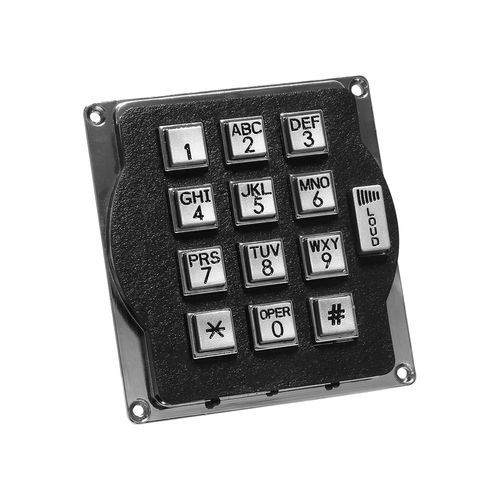 12-key keypad / wall-mounted / metal / silicone