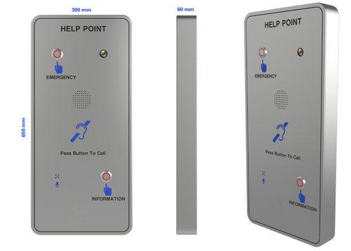 VoIP telephone / IK10 / IP67 / for railway applications