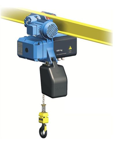 electric cable hoist / trolley / monorail / 2-speed