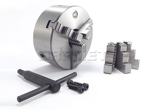 manual tightening turning chuck / 3-jaw / lathe / through-hole