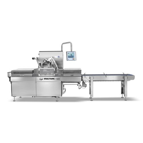 linear array tray sealer / automatic / for the food industry / for the pharmaceutical industry