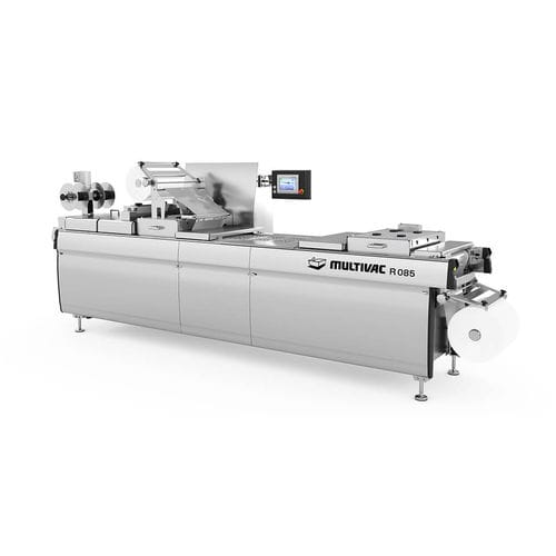 roll-fed thermoforming machine / modified atmosphere packaging / automated / industrial