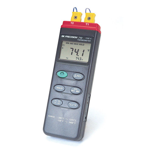 thermocouple thermometer / digital / portable / data logging