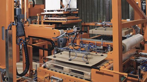layer palletizer / gantry / for bottles / automatic