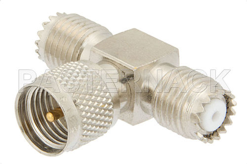 Communication adapter / for coaxial cables Mini UHF series  Pasternack Enterprises, Inc.