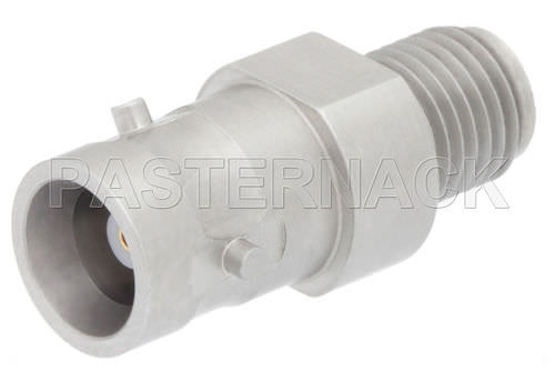 communication adapter / for coaxial cables / bayonet / stainless steel