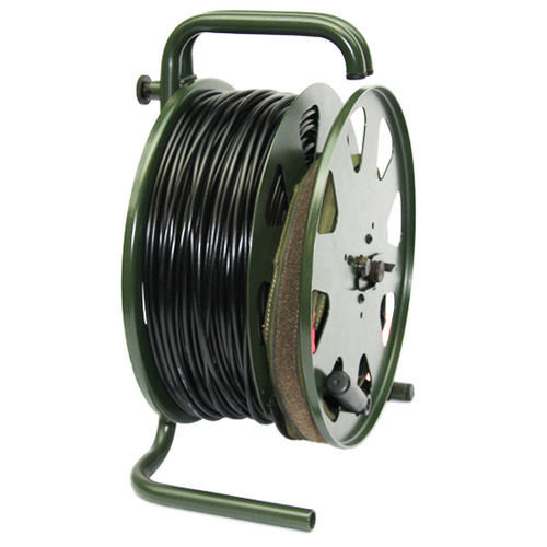 cable reel / manual / transportable / steel
