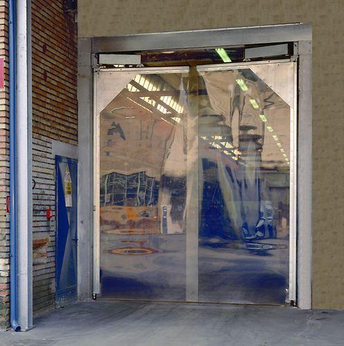 swing door / PVC / industrial / glass