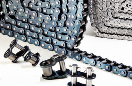 roller chain / power transmission / stainless steel / straight side plate