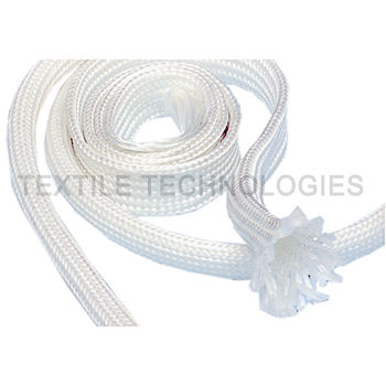 protection sleeve / braided / textile / fiberglass