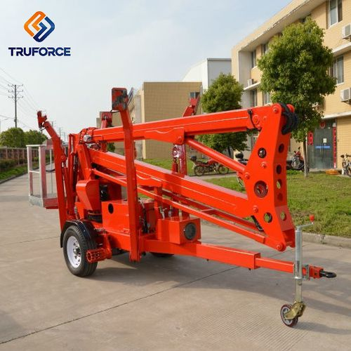 mobile articulated boom lift / truck-mounted / indoor/outdoor / for warehouses