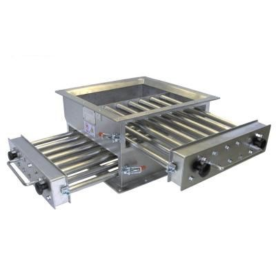 magnetic grate separator / particle / for the food industry / for the pharmaceutical industry