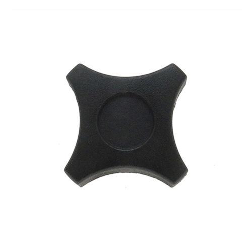 star knob / threaded / polypropylene / stainless steel