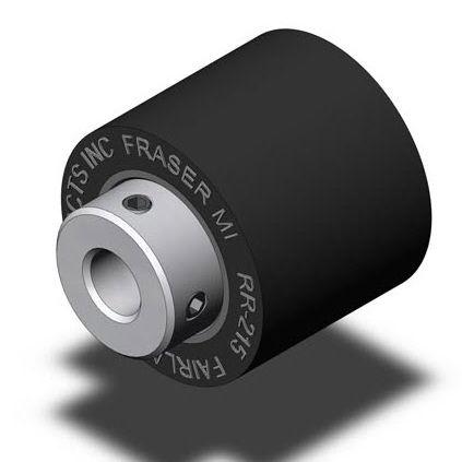guide roller / steel / neoprene / solid