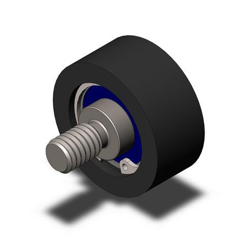 bearing wheel type roller / steel / polyacétal