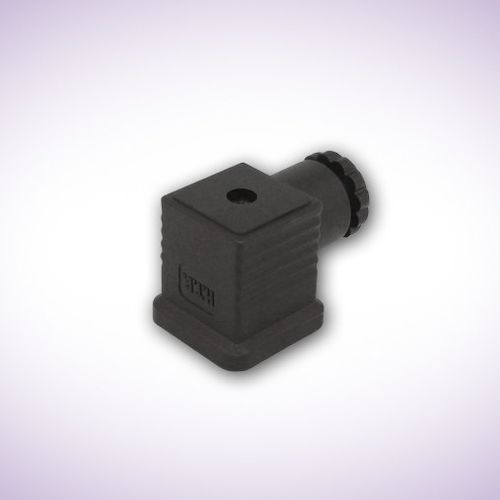 electrical power supply connector / DIN / square / flange