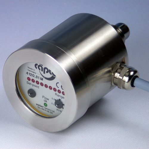 thermal flow switch / for liquids / compact / electronic