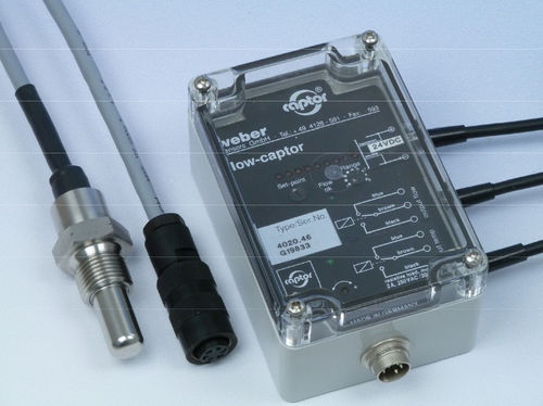 thermal flow switch / for water / high-temperature / with temperature switch