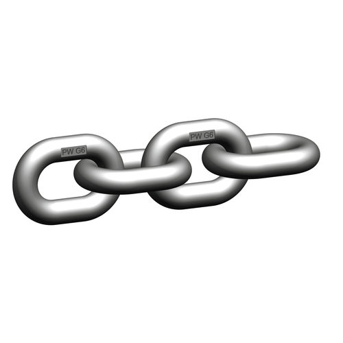 lifting chain / stainless steel / high-strength / for the food industry